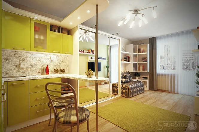 Lime-green-kitchen-cabinets-665x442