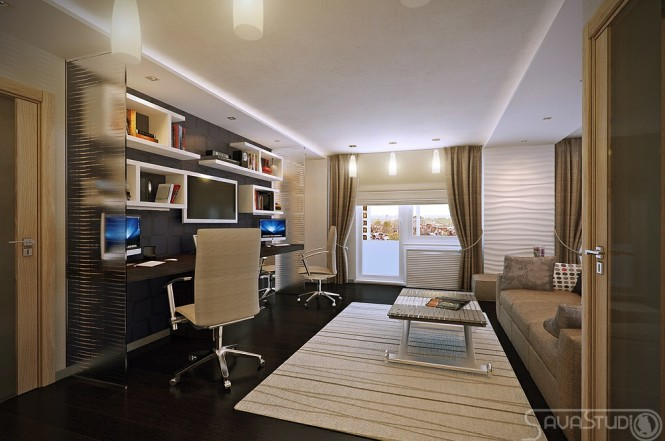 White-brown-home-office-665x441