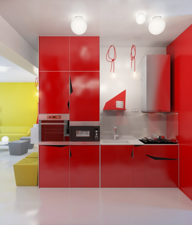 contemporary-red-kitchen-units-665x780